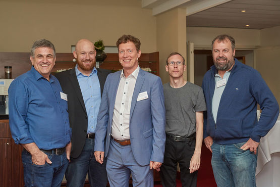 Left to right: Nedo Repusic (Minusines), Michael Gut (Secusys), Gernot Pfannhauser (LST), Andreas Ammann (Secusys), Jean-Luc Kuhlmann (Minusines)